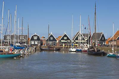 Flevoland Photograph - Marken Harbour by Maria Heyens