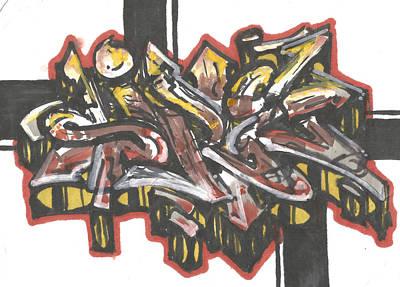 Hop Drawing - Marker Chaos by Nathan Hivick