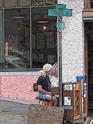 Market Busker 12 Art Print