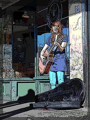 Digital Art - Market Busker 17 by Tim Allen