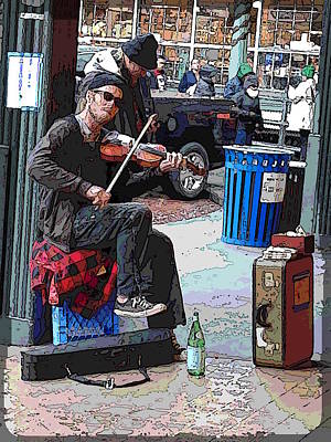 Digital Art - Market Busker 18 by Tim Allen