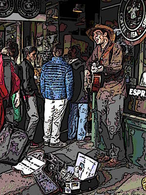 Farmers Market Digital Art - Market Busker 7 by Tim Allen