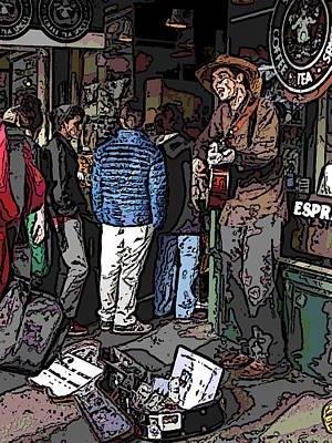 Market Busker 7 Art Print by Tim Allen