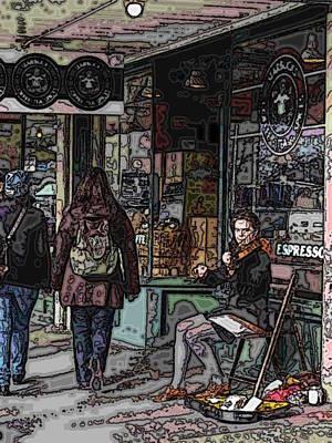 Violin Digital Art - Market Busker 8 by Tim Allen