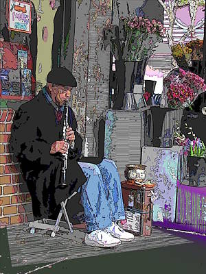 Clarinet Digital Art - Market Busker 9 by Tim Allen