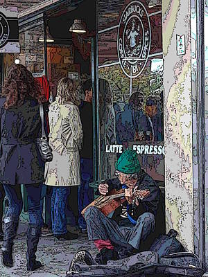 Storefront Digital Art - Market Buskers 13 by Tim Allen