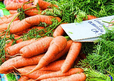 Photograph - Market Carrots By Diana Sainz by Diana Raquel Sainz