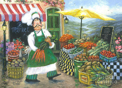 Italian Kitchen Painting - Market Chef by Vickie Wade