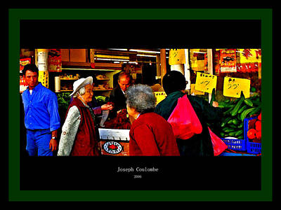 Market Day In Chinatown  Art Print by Joseph Coulombe