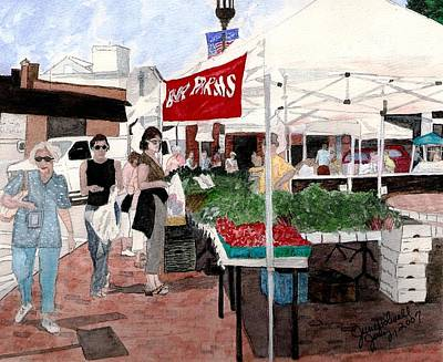 Market Day Art Print by June Holwell