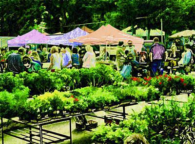 Local Food Digital Art - Market Day by Kathy Bassett