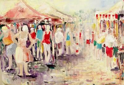 Market Day Art Print by Ken Parkes