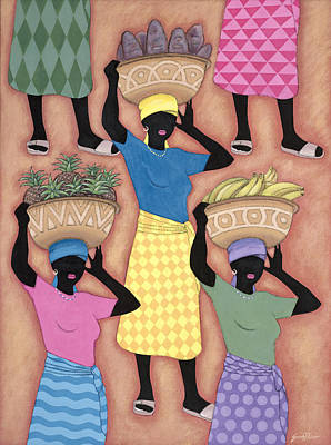Sandals Painting - Market Day by Sarah Porter