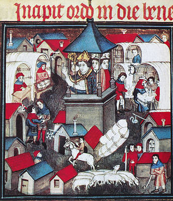 14th Century Painting - Market Fair, 14th Century by Granger