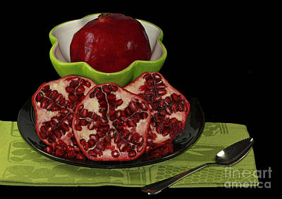 Market Fresh Pomegranate Fruit Art Print by Inspired Nature Photography Fine Art Photography