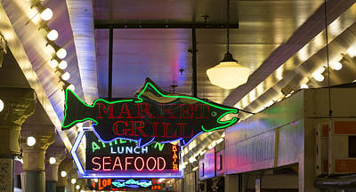 Farmers Market Photograph - Market Grill by Scott Campbell