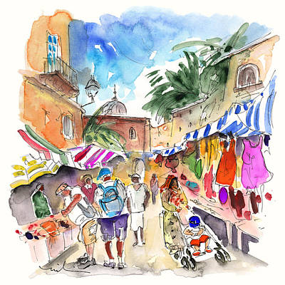 Painting - Market In Siracusa 01 by Miki De Goodaboom