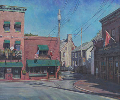 Painting - Market Space In Annapolis Md by David P Zippi