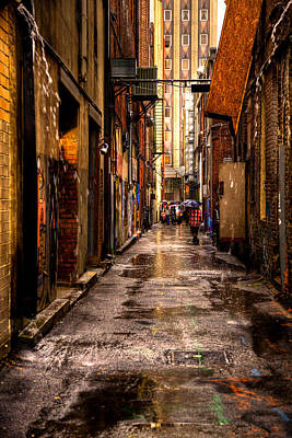 Photograph - Market Square Alleyway - Knoxville Tennessee by David Patterson