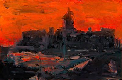 Mixed Media - Market Square At Sunrise by Jim Vance