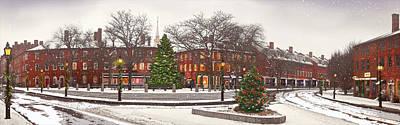 Market Square Christmas - 2013 Art Print by John Brown