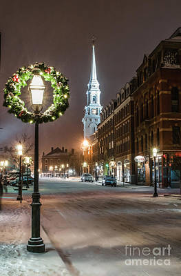 Nh Photograph - Market Square Christmas by Scott Thorp