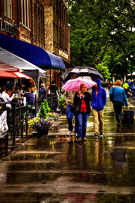 Photograph - Market Square Stroll by David Patterson