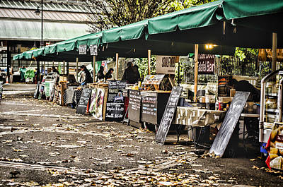 Photograph - Market Stalls by Heather Applegate