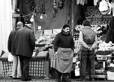 Photograph - Market Talk by John Rizzuto