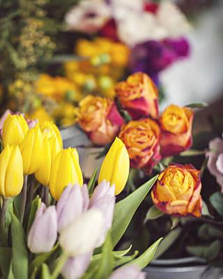 Photograph - Market Tulips - Paris, France by Melanie Alexandra Price