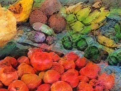 Painting - Market Vegetables - Horizontal by Lyn Voytershark
