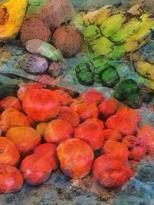 Digital Art - Market Vegetables - Vertical by Lyn Voytershark