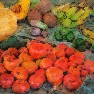 Painting - Market Vegetables - Square by Lyn Voytershark