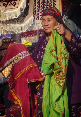 Photograph - Market Vendor by Dave Hall