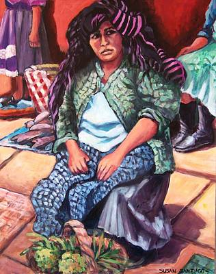 Painting - Market Woman From Patzcuaro by Susan Santiago