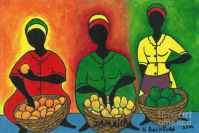 Market Women Art Print by Nicholas Beckford