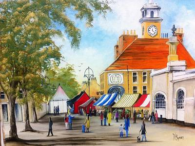 Art Print featuring the painting Markets On High Street by Helen Syron