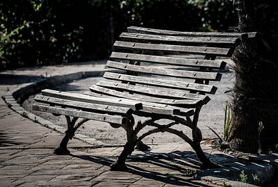 Mark's Bench Art Print by Piet Scholten