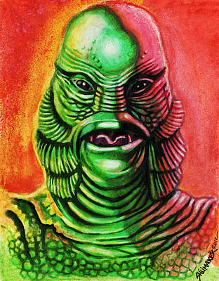 Prison Mixed Media - Mark's Creature From The Black Lagoon by David Shumate