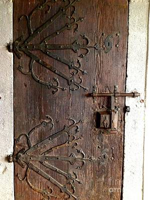 Photograph - Marksburg Castle Ornate Door by John Potts