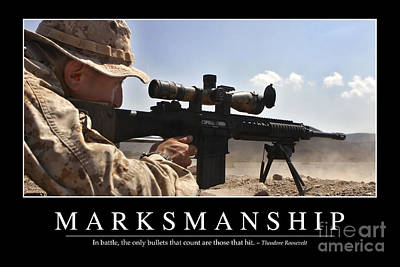 Photograph - Marksmanship Inspirational Quote by Stocktrek Images