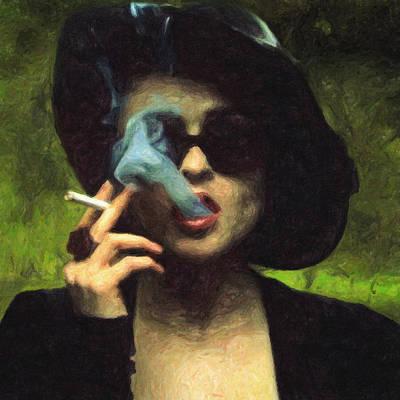 Carter.oil Painting - Marla Singer by Taylan Apukovska