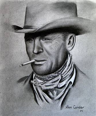 Drawing - Marlboro Man by Alan Conder