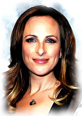 Blockbuster Painting - Marlee Matlin by Paul Quarry