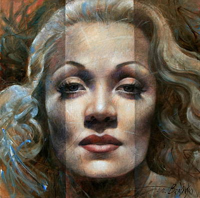 Portrait Of Woman Painting - Marlene Dietrich by Arthur Braginsky