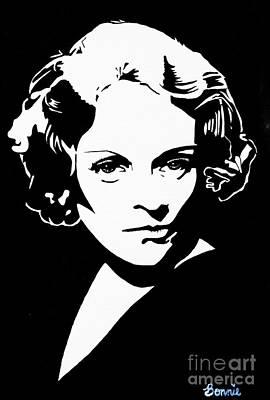Painting - Marlene Dietrich by Bonnie Cushman