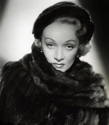 Film Noir Digital Art - Marlene Dietrich by Daniel Hagerman