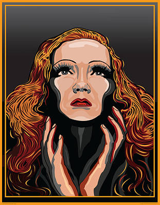 Marlene Dietrich Hollywood The Golden Age Art Print by Larry Butterworth