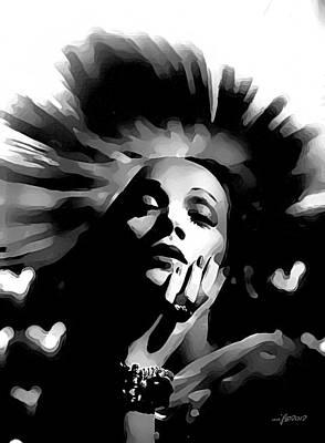 Thomas Kinkade Royalty Free Images - Marlene Dietrich Royalty-Free Image by Maciek Froncisz