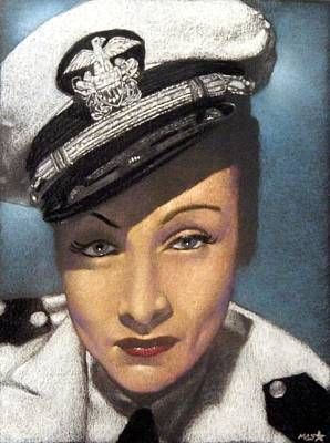 Drawing - Marlene Dietrich by Michael Swanson